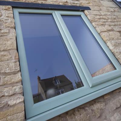 Green casement window