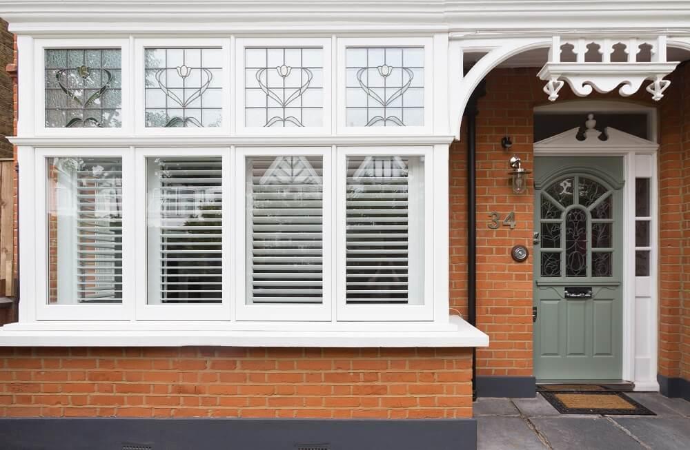 Timber casement bay window
