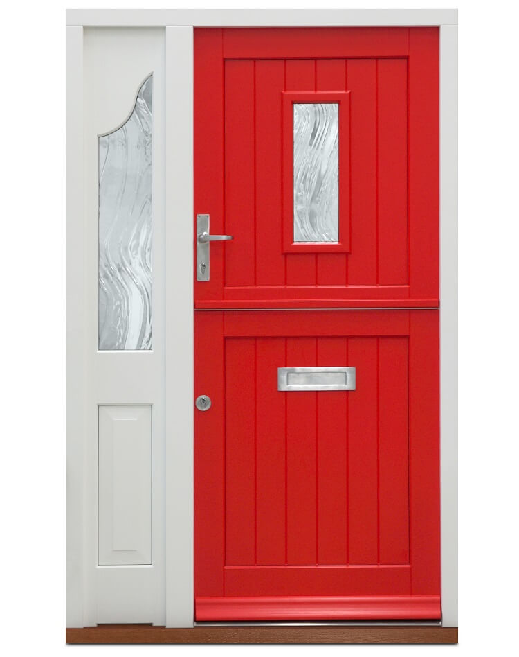 Red timber stable door