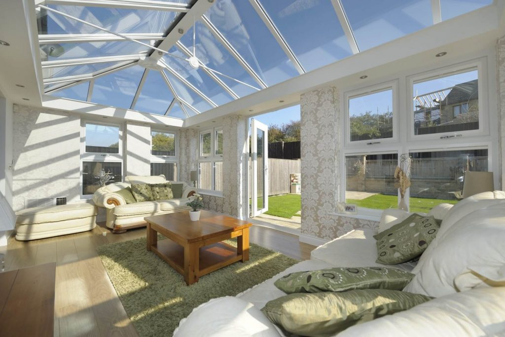 Large glass roof