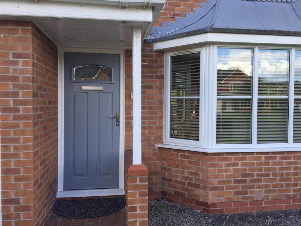 Grey Solidor front door