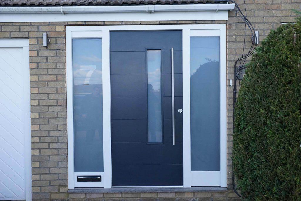 Black timber front door