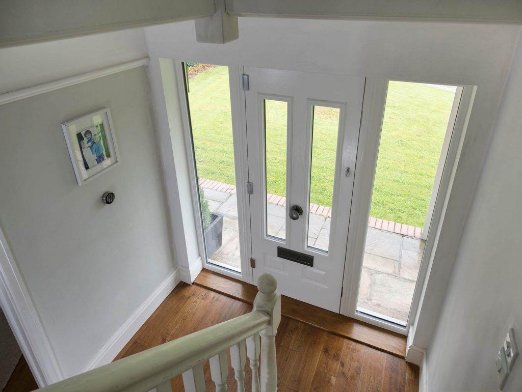 White Solidor front door