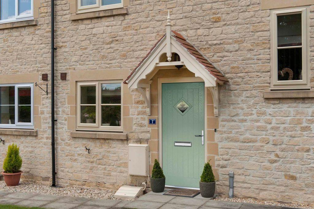 Doorco green front door