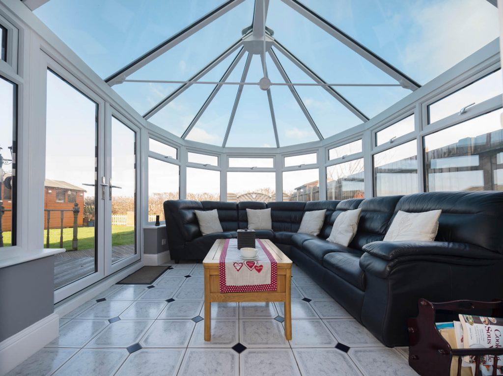 Glass conservatory inside