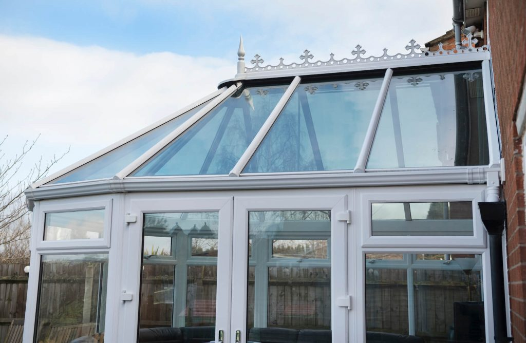 Glass conservatory outside