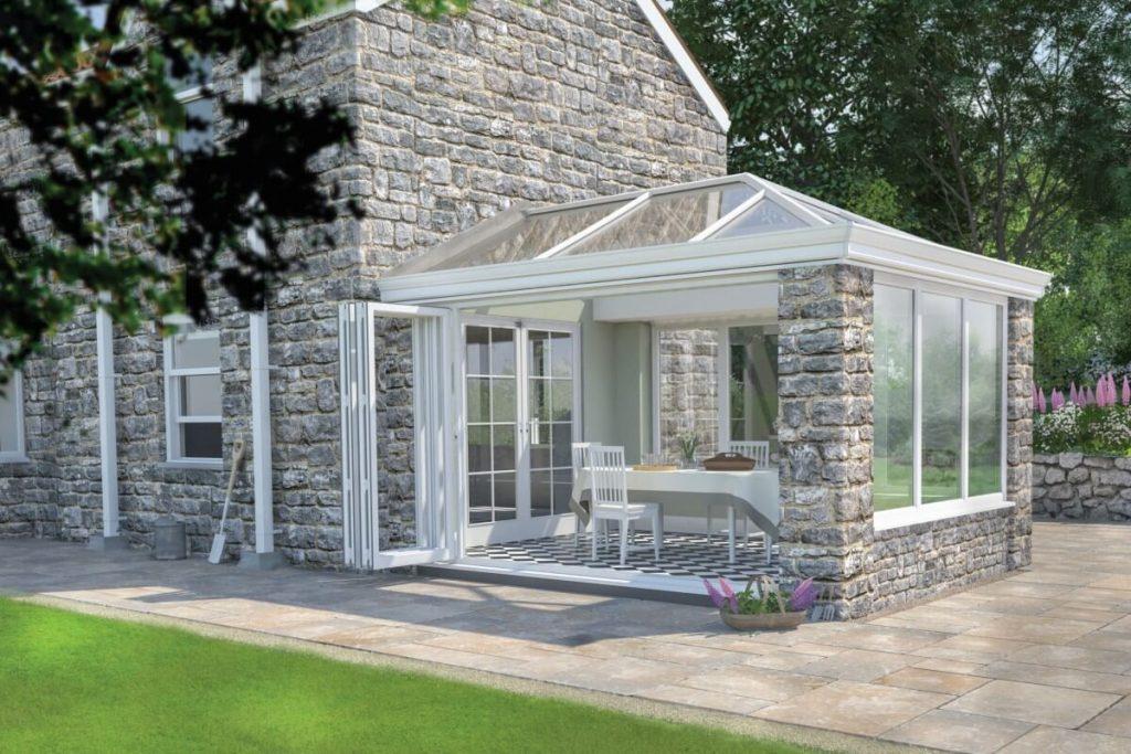 Ultraframe glass roof