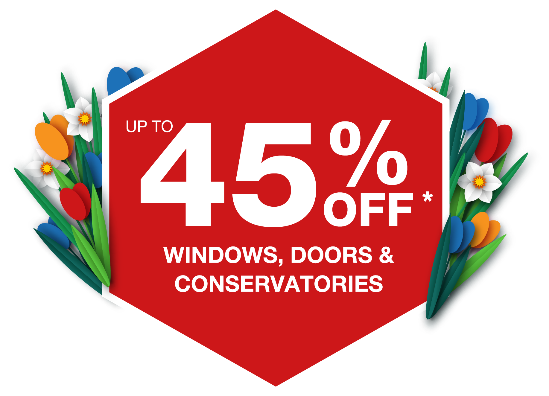 Up to 40% off Windows, Doors & Conservatories