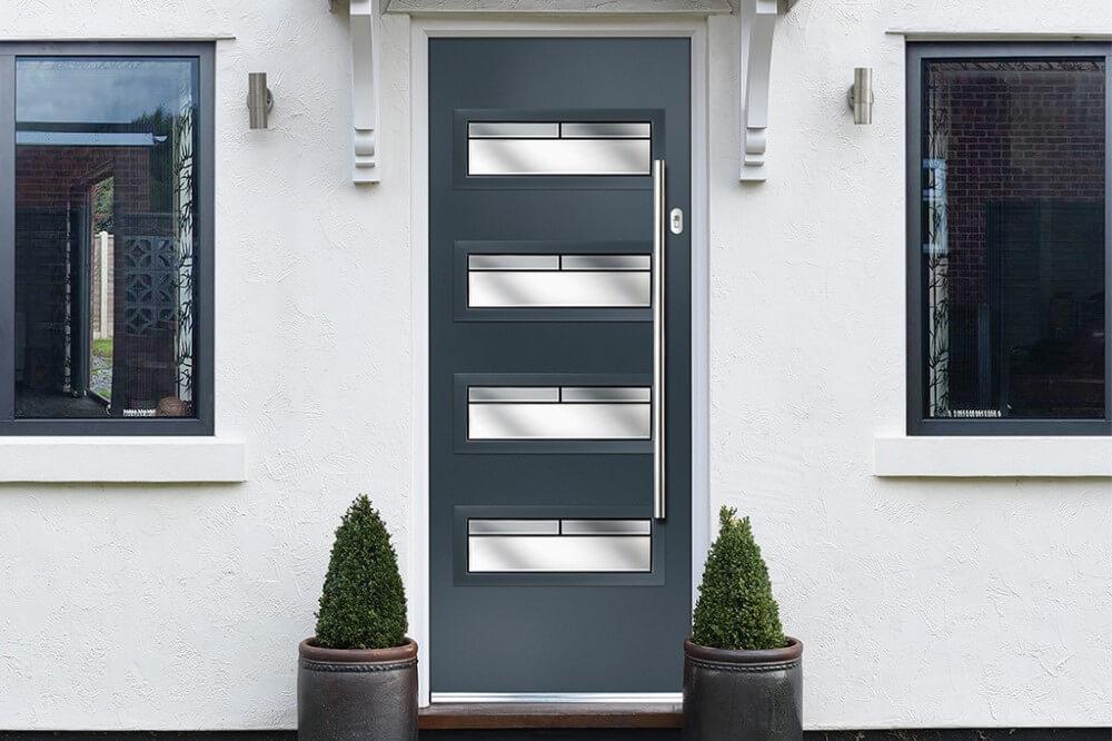 A Urban-oakmont Composite door in grey.