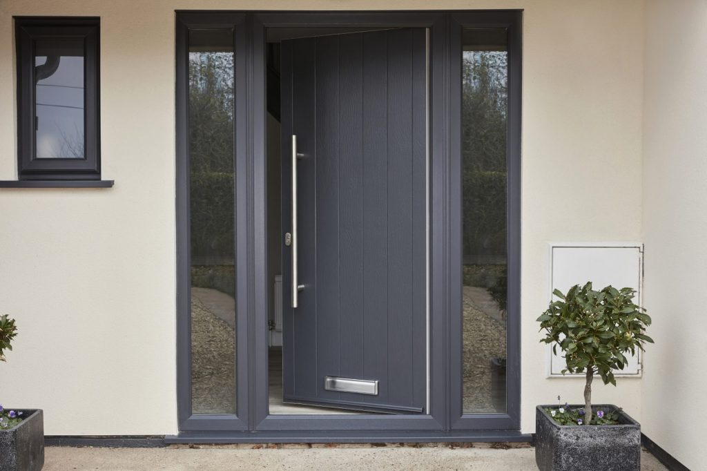 Grey open Endurance Composite Door