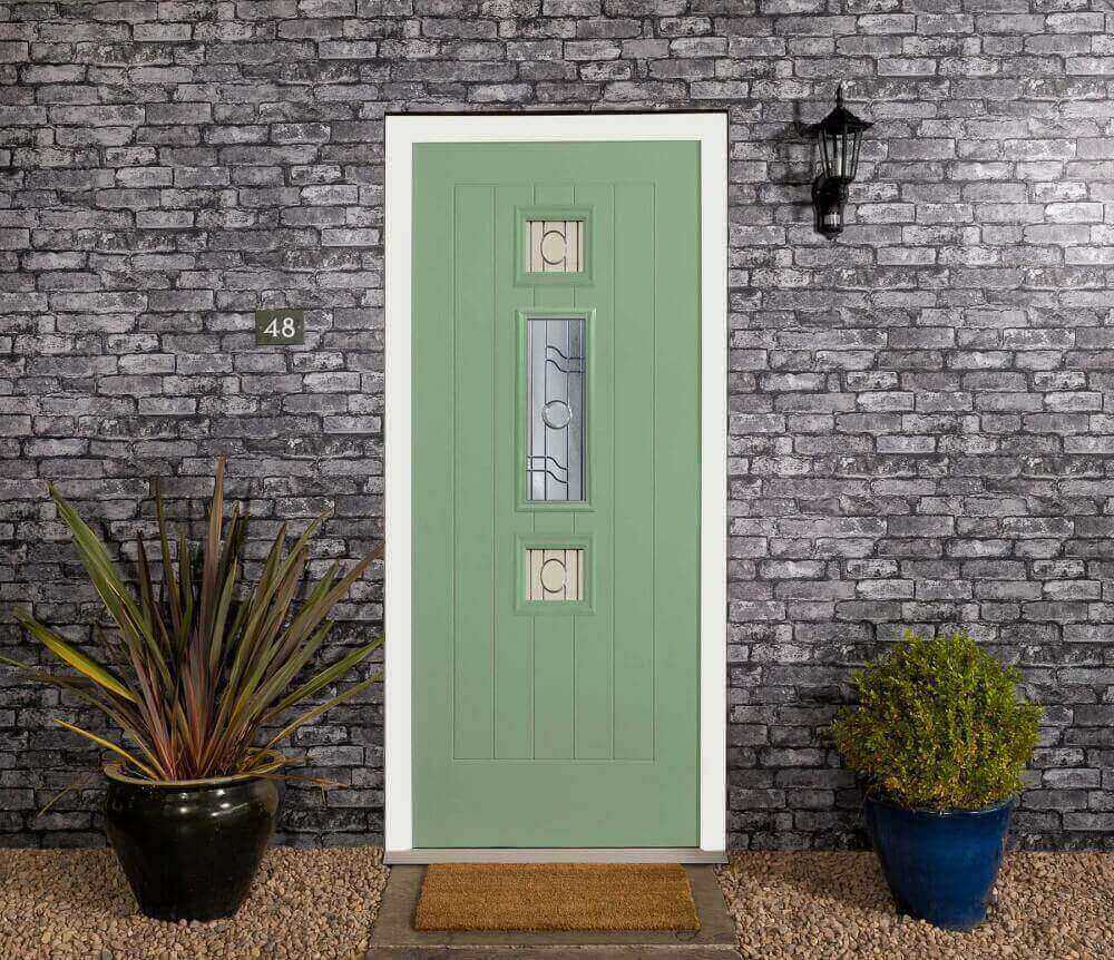 A endurance green front door