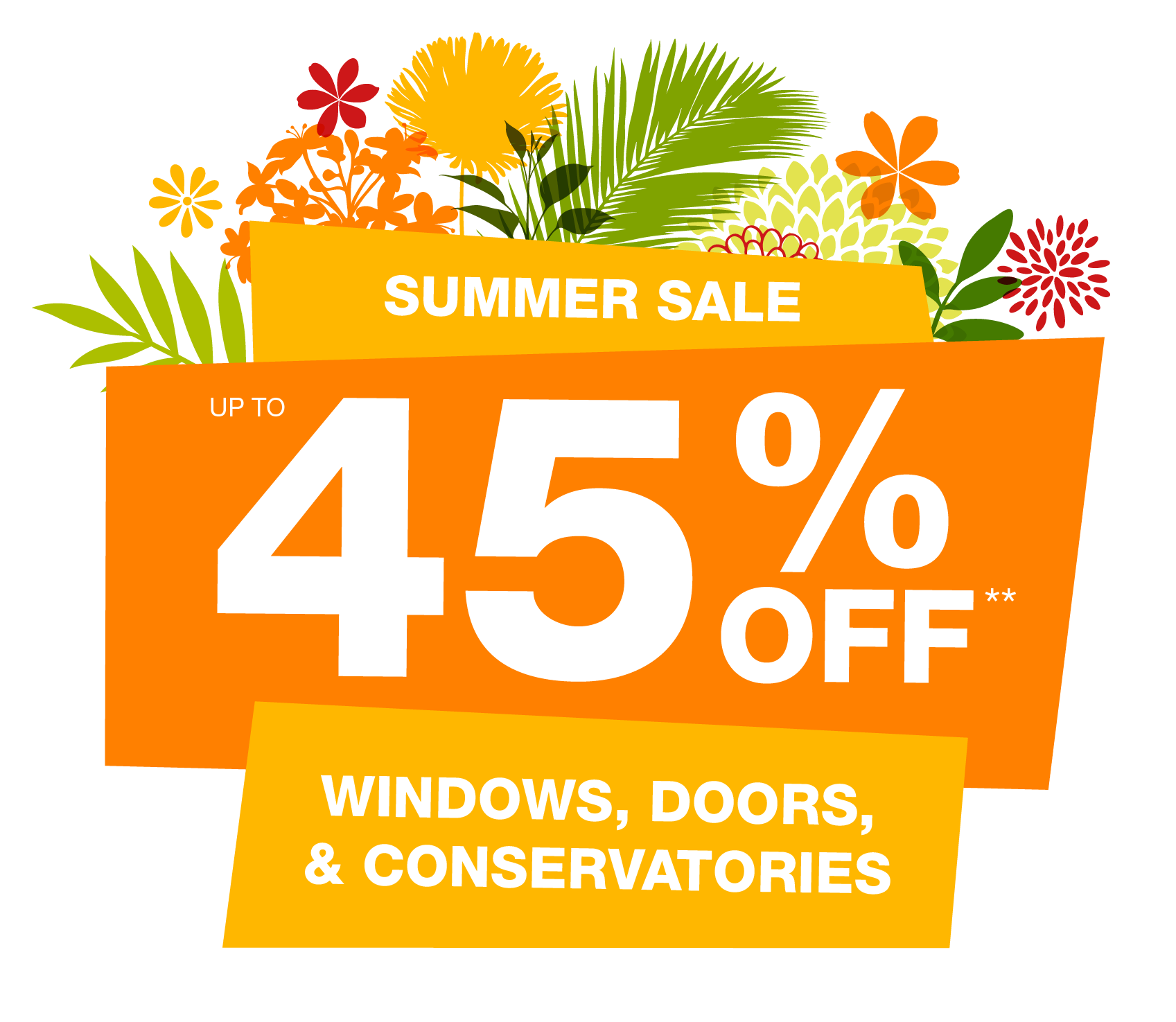 Up to 45% off Windows, Doors & Conservatories