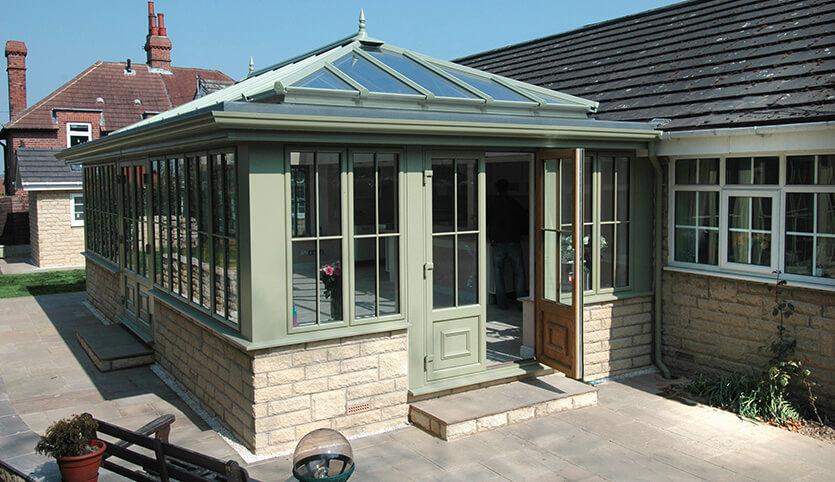 Ultraframe green orangery installation