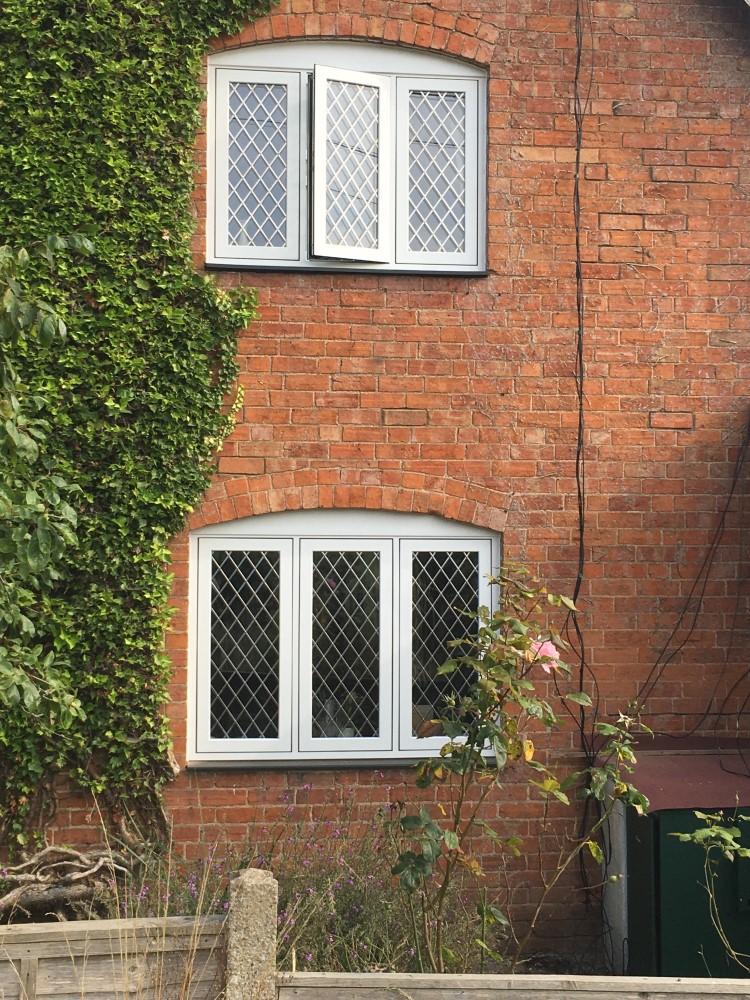 White flush sash windows
